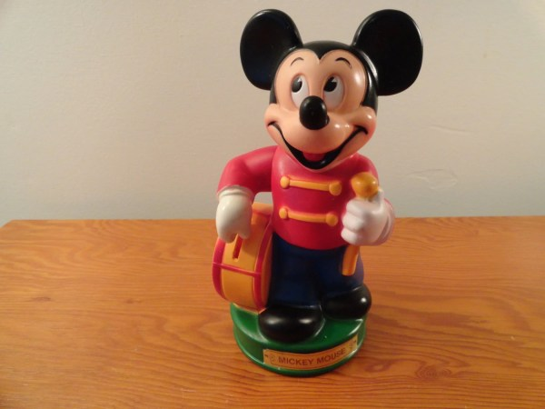 Vintage Mickey Mouse Coin Piggy Bank Drum Major