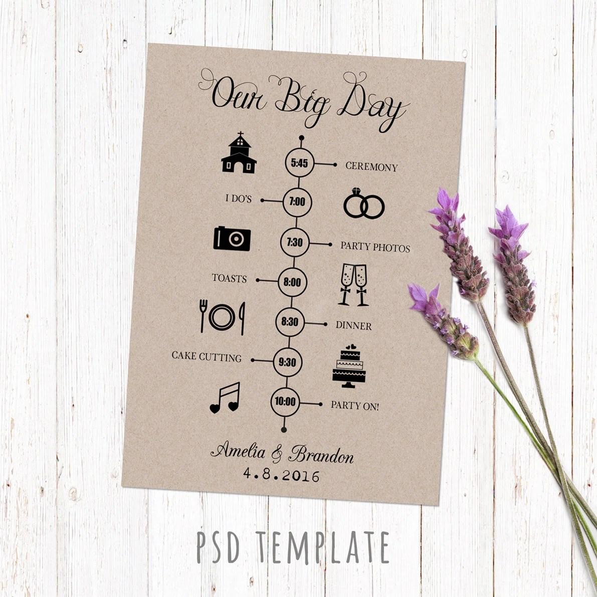 Timeline Hochzeit Vorlagen