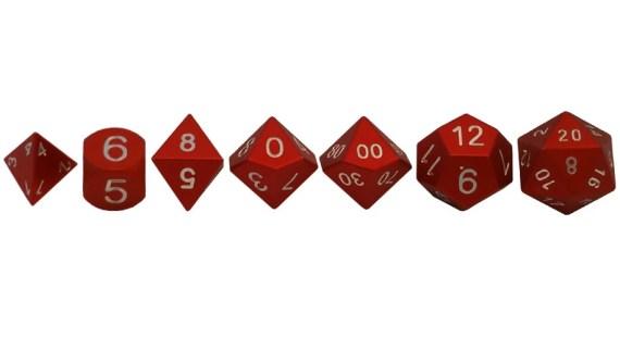 Polyhedral dice metal