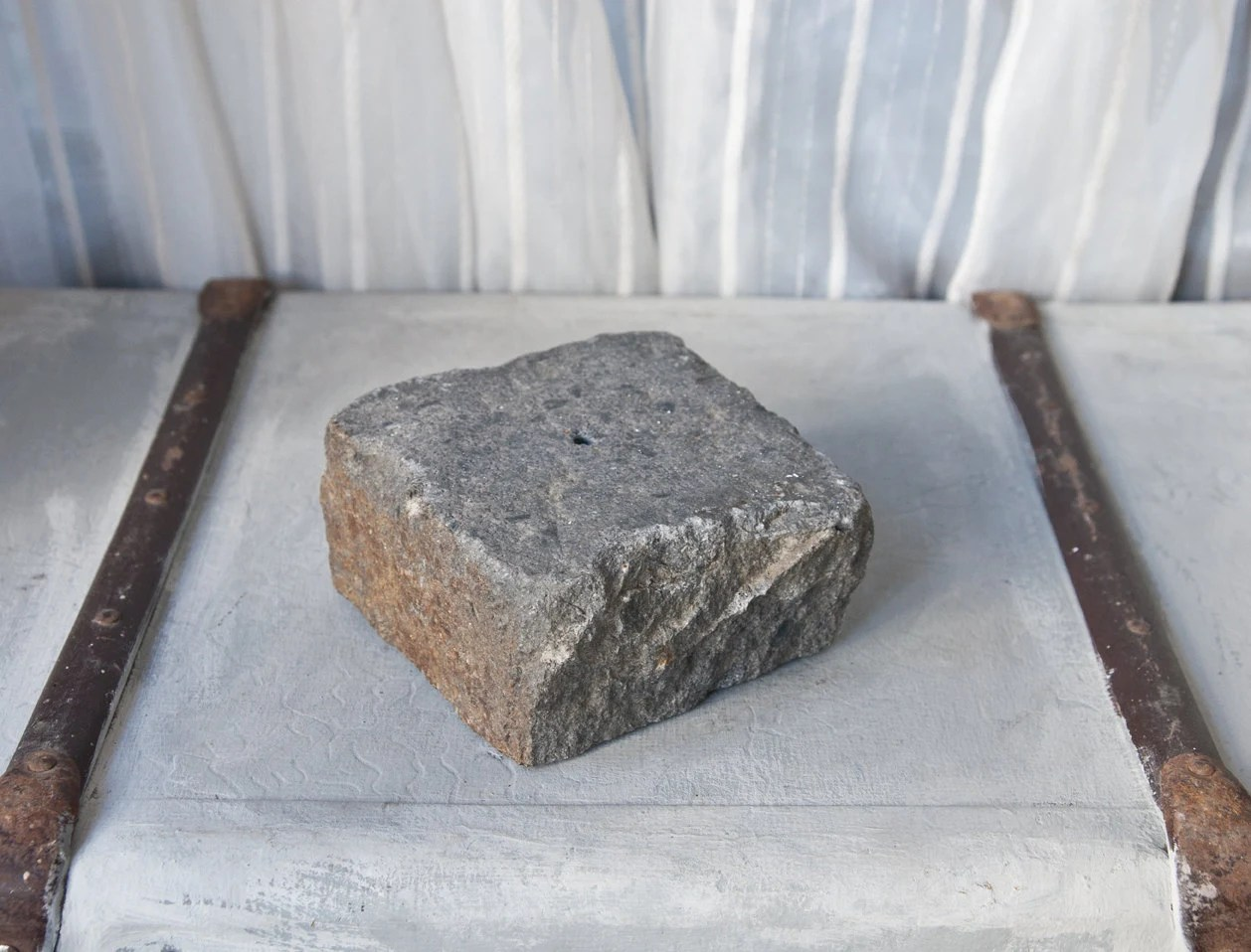 Gray Stone Base Sculpture Pedestal Gray Granite Base With