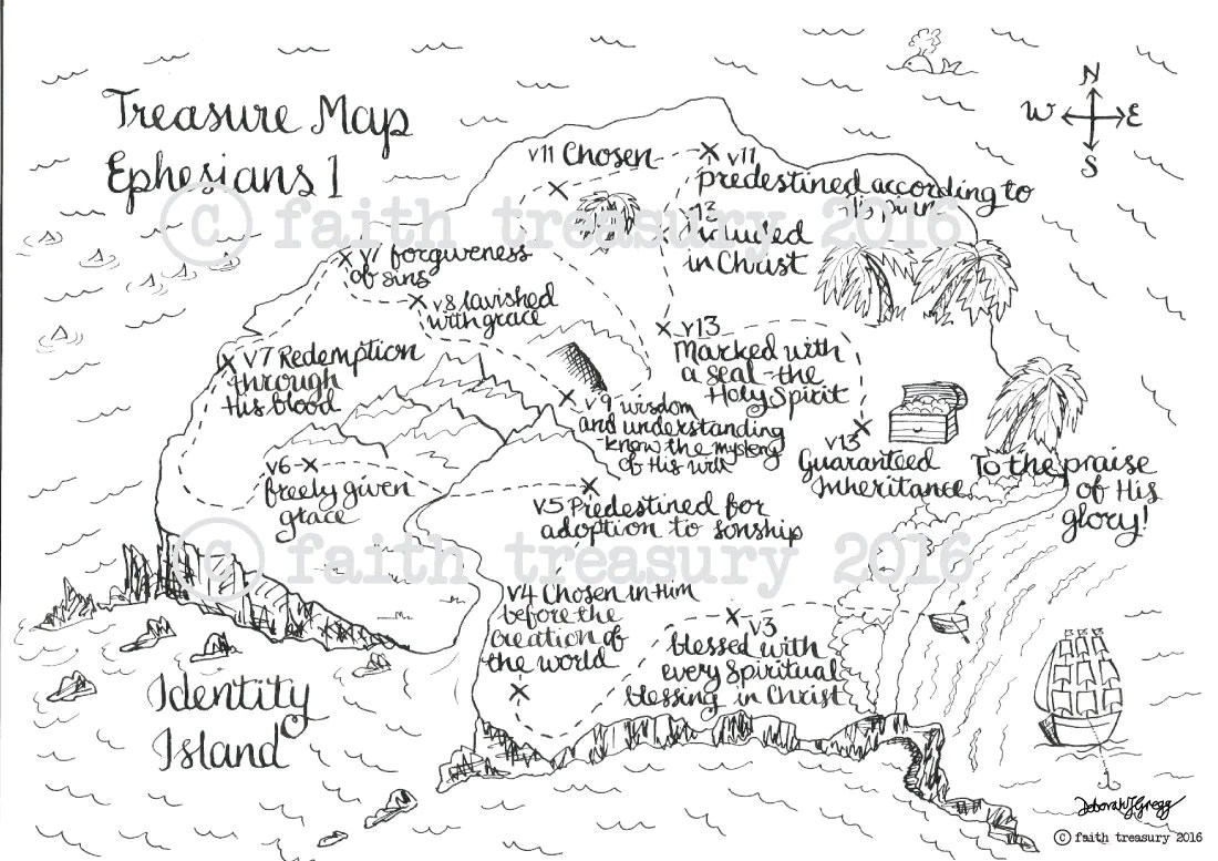 Treasure Map Ephesians 1