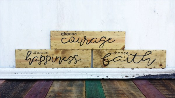 Wall Wood Signs Art Quotes Modern Rustic