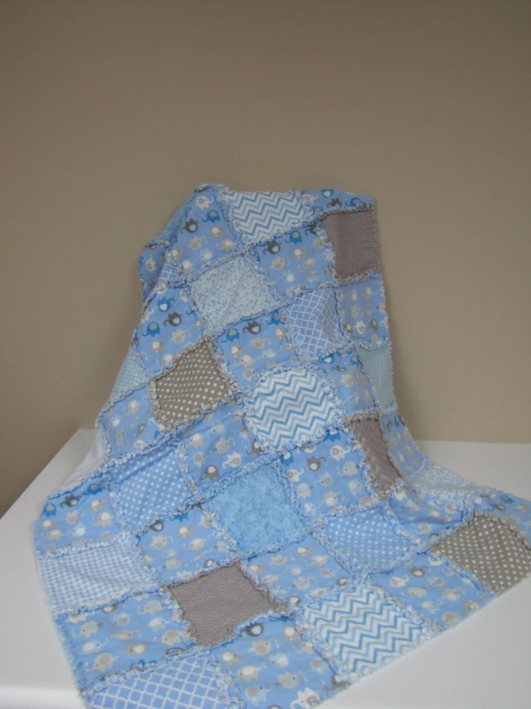 Elephant Rag Quilt Pattern - Year of Clean Water