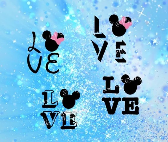 Download Love Mickey Svg Minnie Mouse SVG File Minnie Mouse DXF File