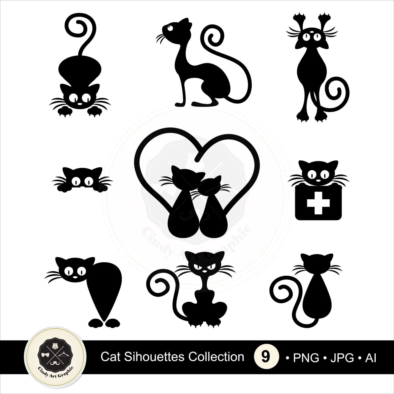 Katze Silhouetten Clipart 2 Schwarze Katze Clipart Clipart