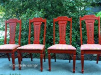 Four Vintage Painted Bohemian Chairs Bohemian Chairs