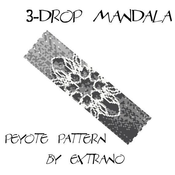 3-drop peyote pattern bracelet pattern peyote bracelet even