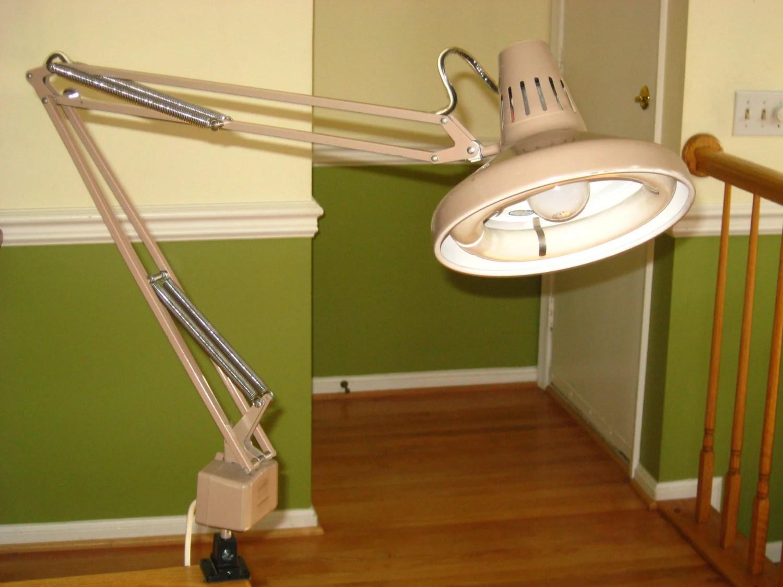 Vintage LUXO Color Correct Dual Light Architects Lamp