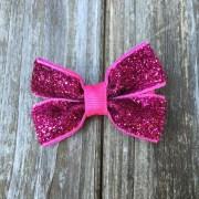 pink glitter hair bow hot