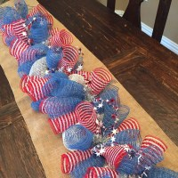 Fourth of july garland deco mesh garland deco mesh by ...