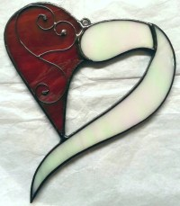 Stained Glass Decorative Wire Work Heart