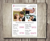 Wedding Photography Package Pricing Photographer Price List