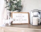 Milk & Creme Wood Framed ...