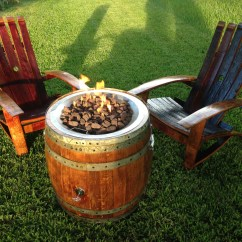 Fire Pit And Adirondack Chairs Desk Chair John Lewis Wine Barrel Set