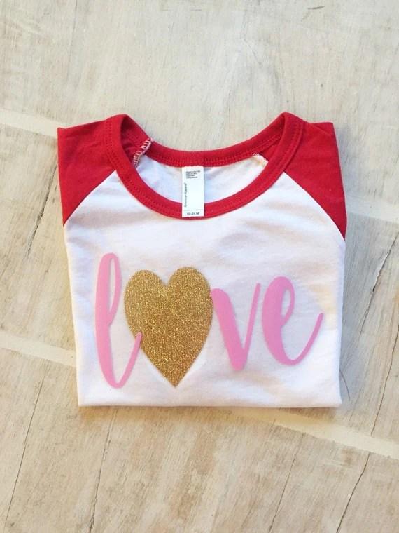 Items Similar To Girls Valentines Shirt Valentines Shirt
