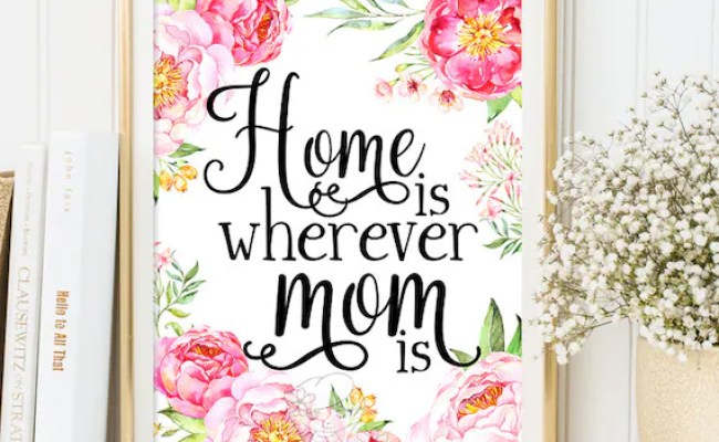 Printable Mothers Day Gift Print Wall Art Decor Gift For Mom