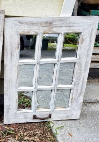 SALE Rustic Farmhouse Window Mirror / Window Pane Mirror