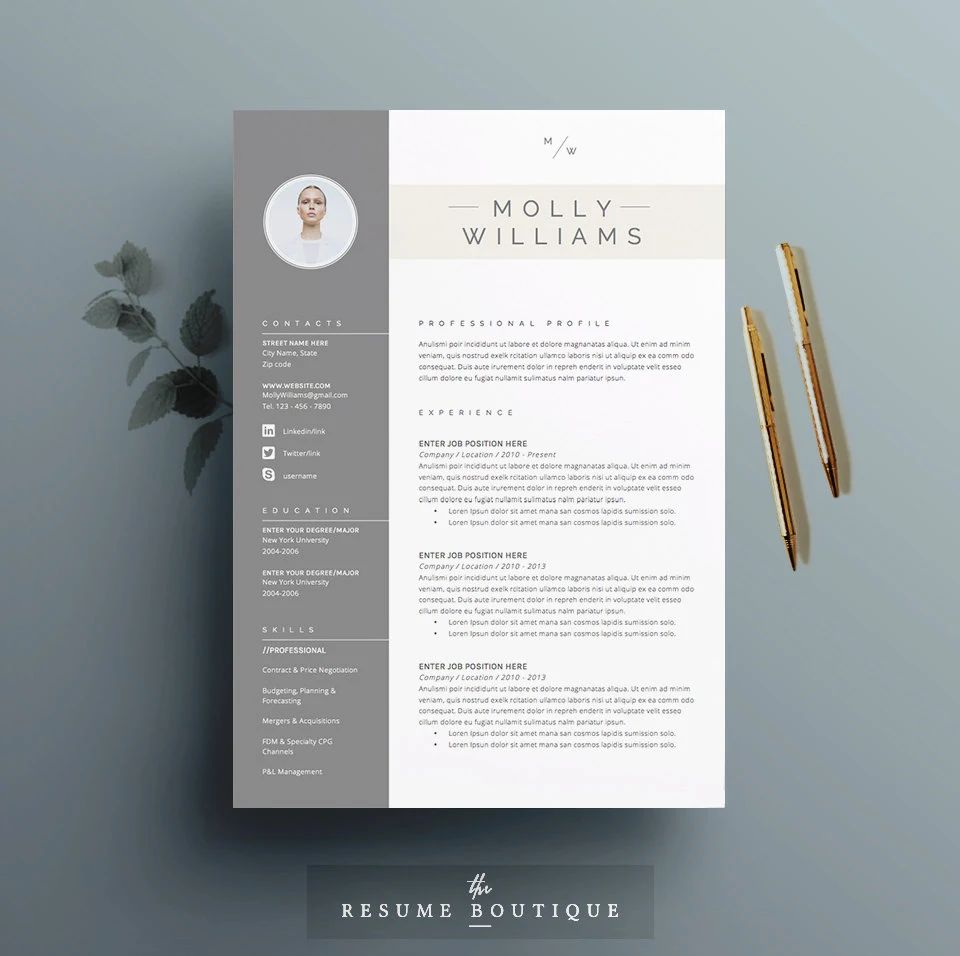 free matching cover letter and resume templates