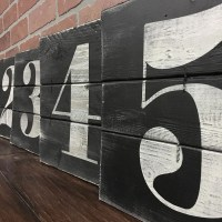 NUMBER WALL ART Rustic house numbers Subway numbers Number