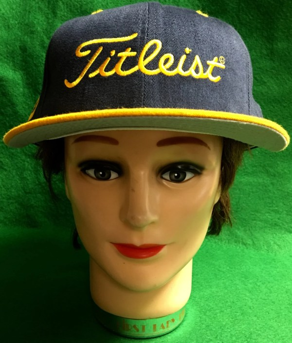 Titleist Dark Blue And Yellow Fitted Cap Size 7 & 5 8
