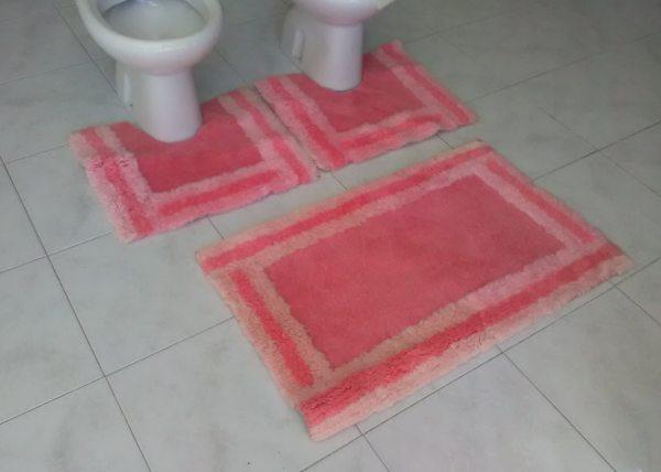 Rug Bathroom Pink -slip Vintage