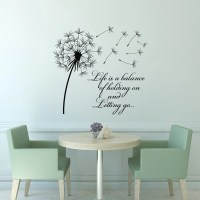 Dandelion Wall Decal Quote Life Is A Balance Holding On