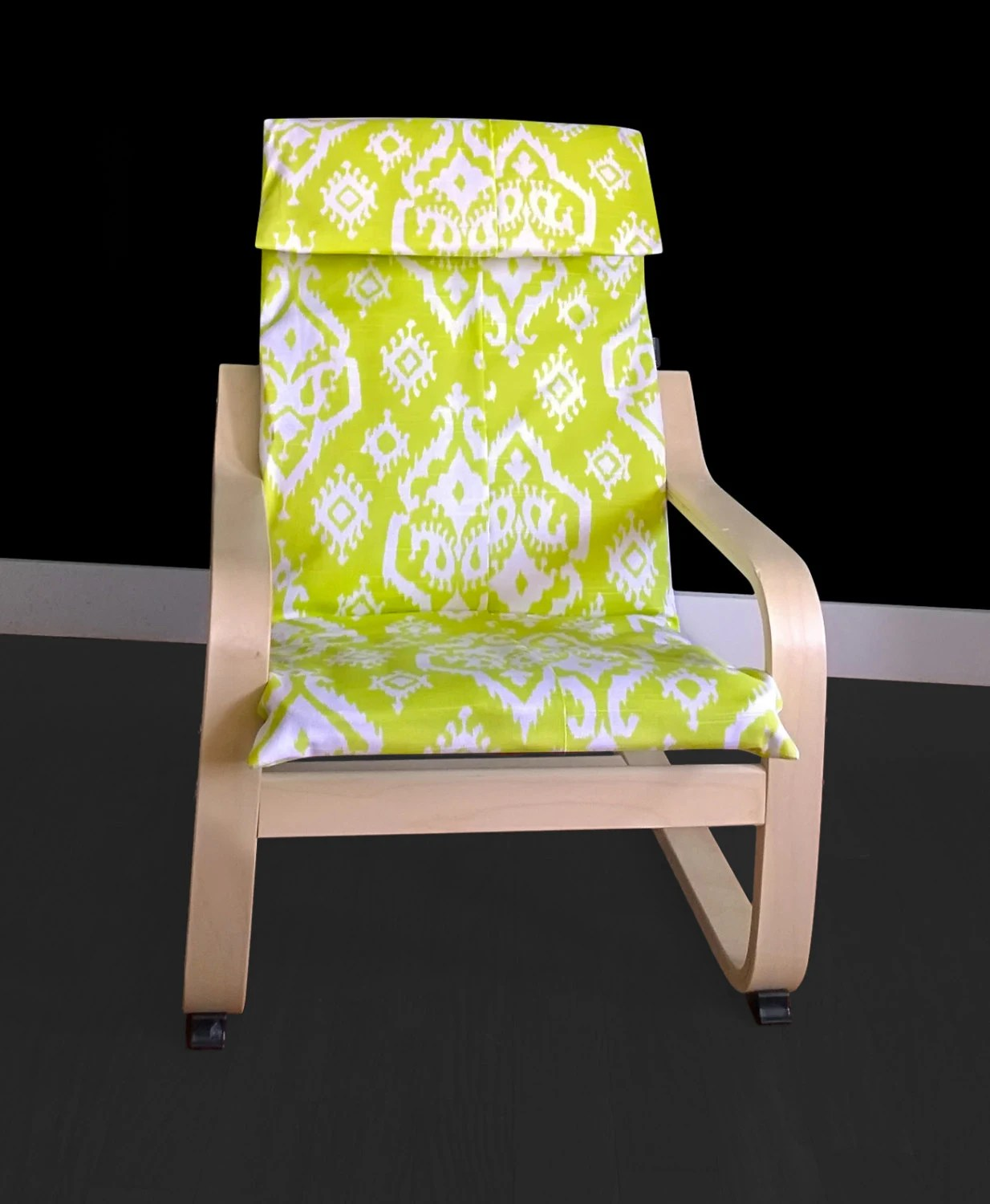 Green Chair Covers Lime Green Indian Ikat Children 39s Poang Chair Cover