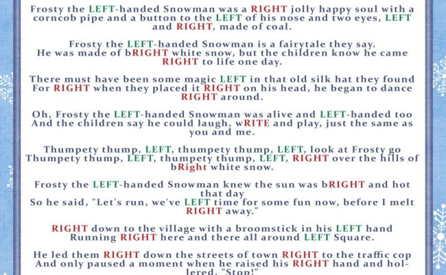 Winter Right And Left Story Game Christmas Party Game Cookie