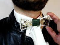 Resin bow tie steampunk bow tie with gears and cogs men