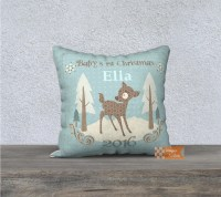 Baby's first Christmas pillow cover personalized pillow