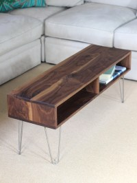 Mid Century Modern Style Coffee Table with Stainless by ...