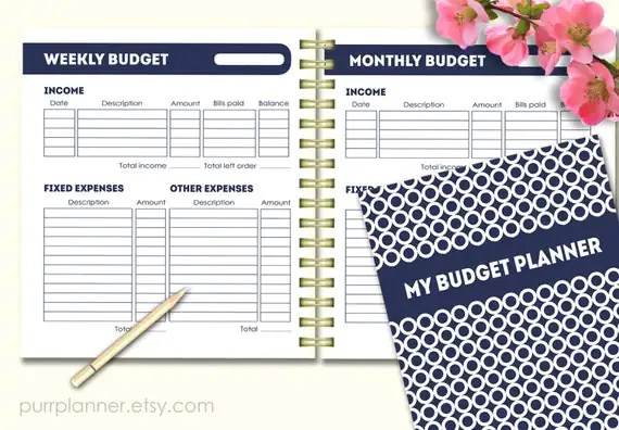 Printable Budget Planner Letter size financial by purrplanner
