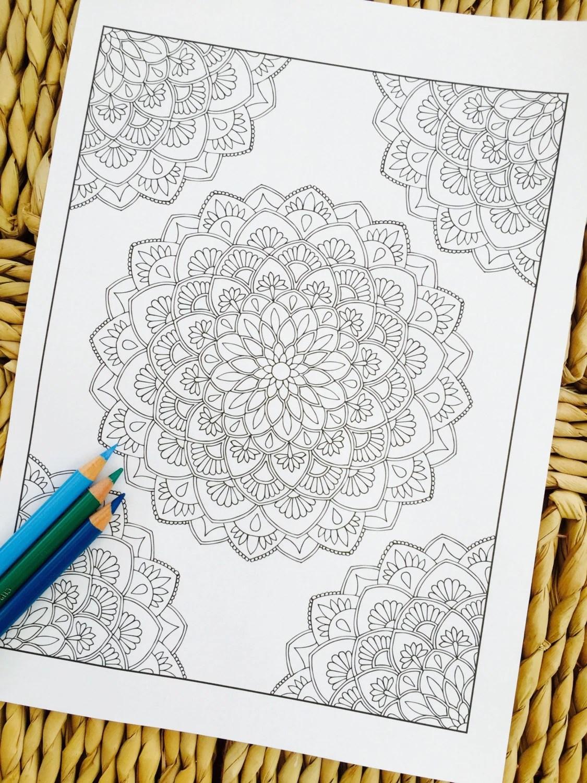 Mandala Amaze Corner Hand Drawn Adult Coloring