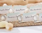 Silver Beach and Nautical Seashell Place Card Holder (Set of 18)