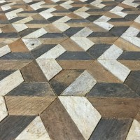 Reclaimed Wood Wall Art, Tessellation, 30 x 30, Lath ...