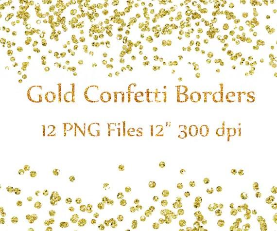 gold confetti borders clipart
