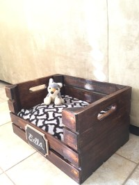 Wooden Dog Bed Wine Crate Dog Bed for Small Dogs FREE