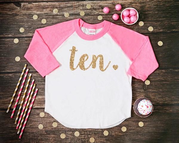 Ten Year Birthday Shirt Tenth Girl 10