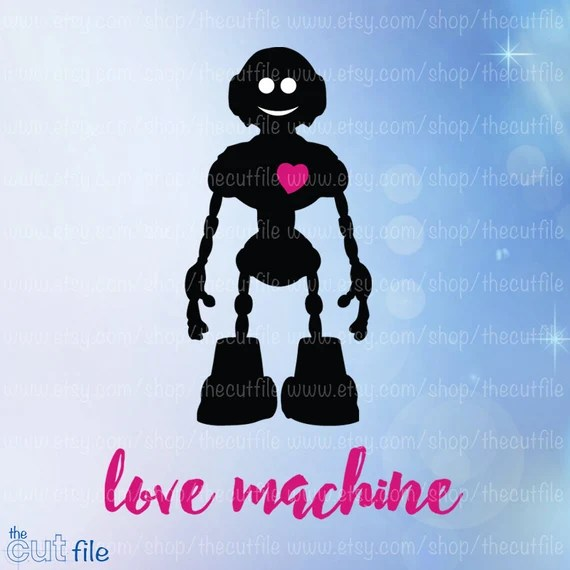 Download Love Machine cut file robot svg dxf eps jpeg for cutting