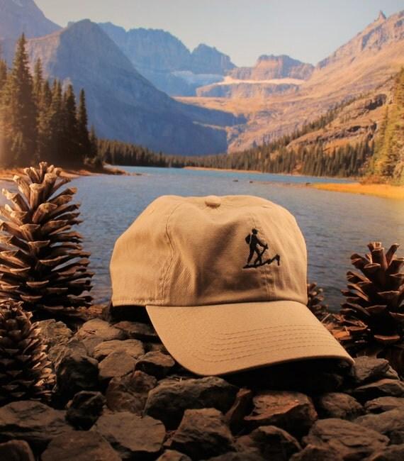 Great Sand Dunes Khaki hiking hat Our hiker logo design is
