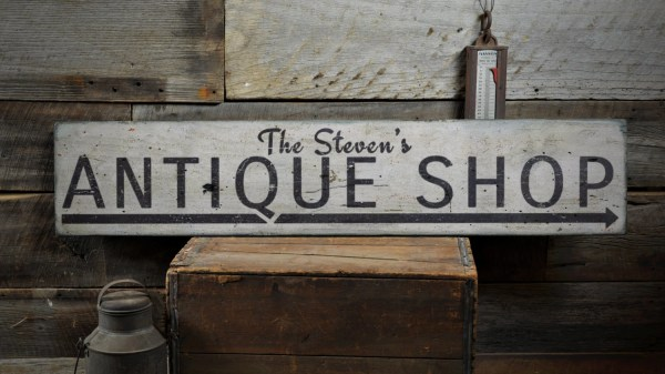 Antique Wood Sign Custom Arrow Lover