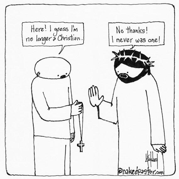 Items similar to No Longer a Christian CARTOON on Etsy