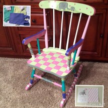 Whimsical Painted Furniture Youth Rocking Chair