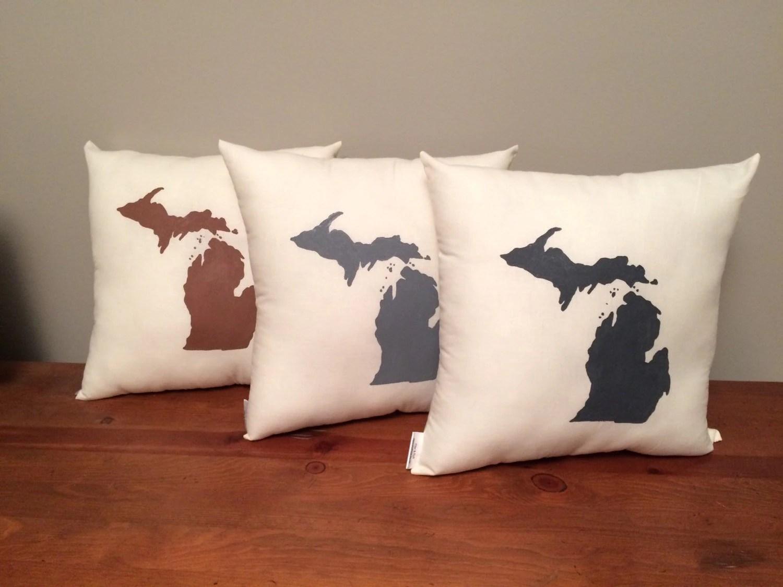 State of Michigan Pillow