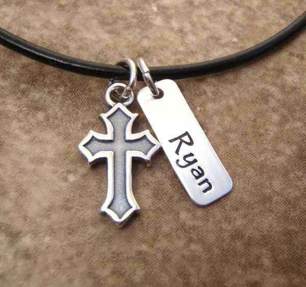 Boy' And Cross Necklace Communion