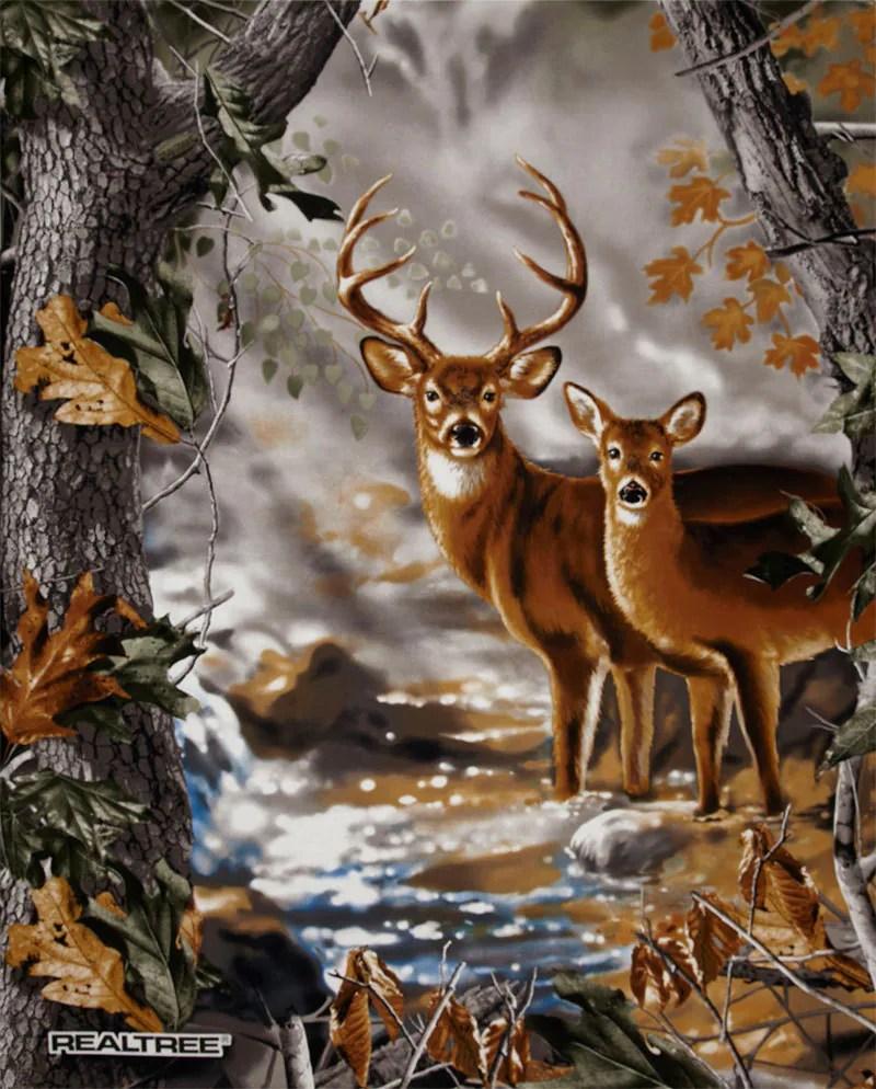Red Animal Print Wallpaper Realtree Camo Fabric 100 Cotton Fabric Panel Buck Doe