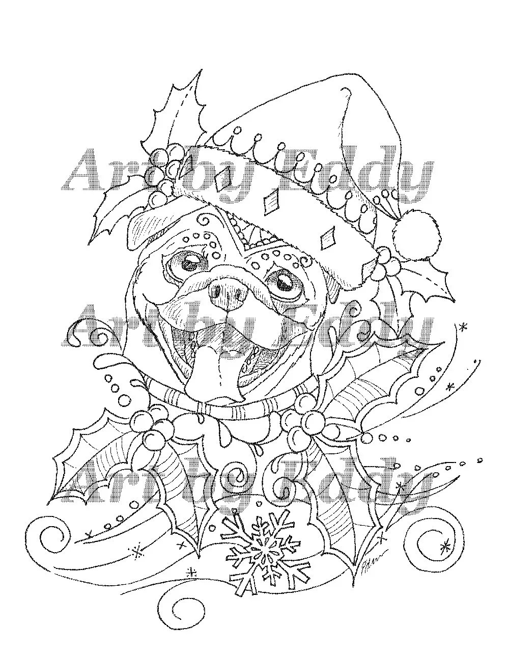 Art of Pug Coloring Book Volume No. 1 Physical Book