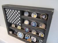 Military Challenge Coin Display Rack Holder Collector USA