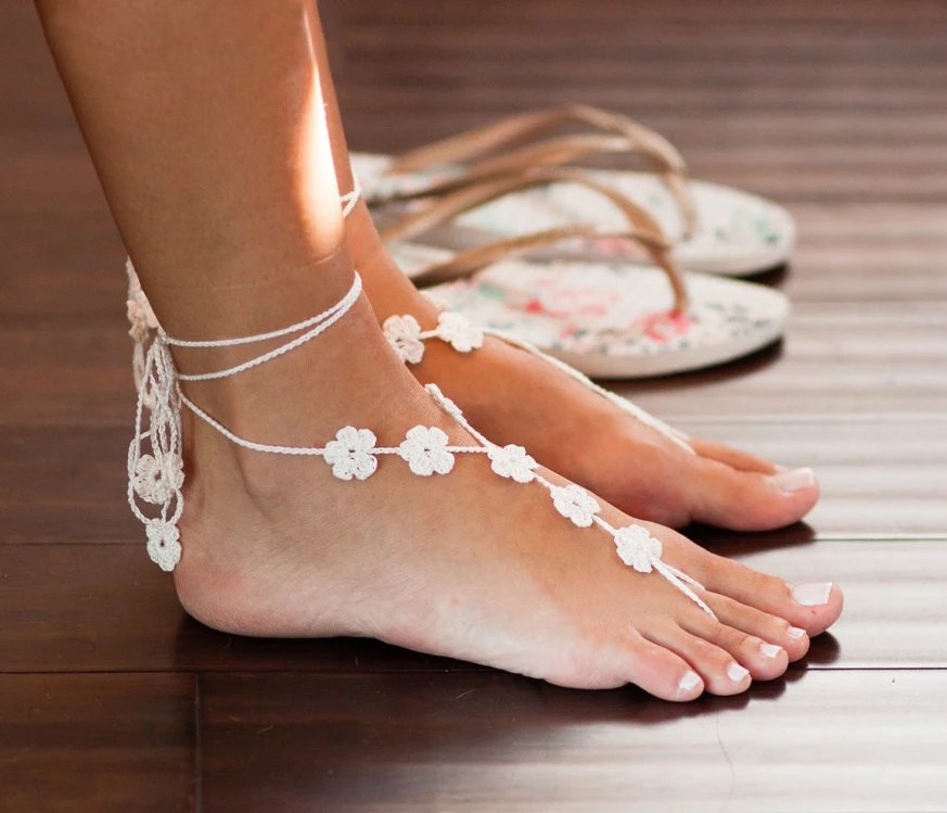 Footless Sandals Beach Wedding Sandals Bridal by