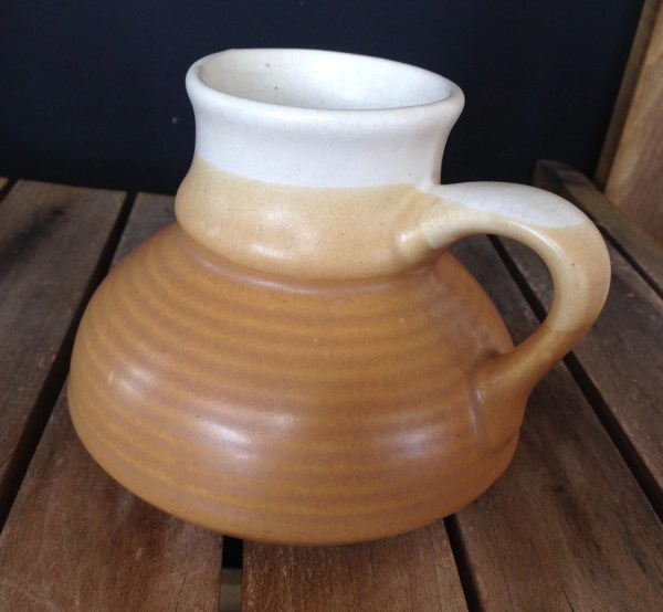 Hand Pottery Travel Mug Spill Vintage Wide Base Narrow